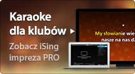 Karaoke z iSing w klubach